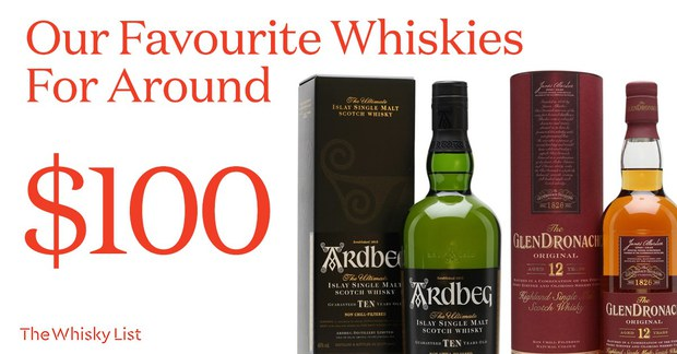 Our Favourite Whiskies For Around $100! (February 2019 edition)