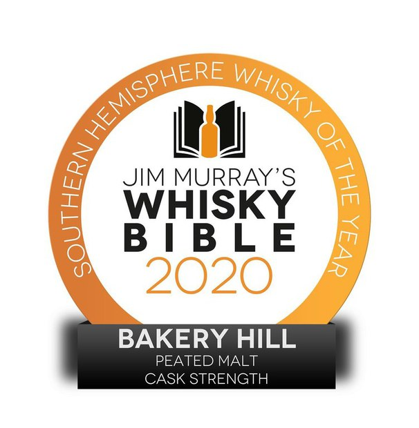 Bakery Hill Peated Cask Strength wins in Jim Murry's Whisky Bible