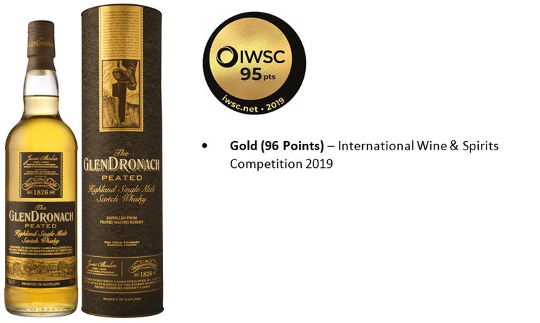 GlenDronach Peated & Awards.JPG
