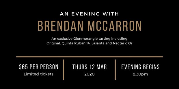 Glenmorangie Tasting: An Evening with Brendon McCarron