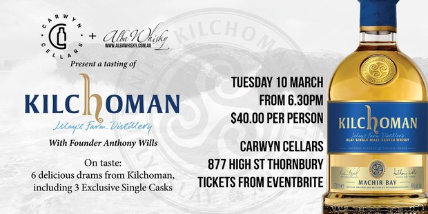 Kilchoman Tasting with Founder Anthony Wills