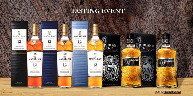 The Macallan & Highland Park Whisky Tasting