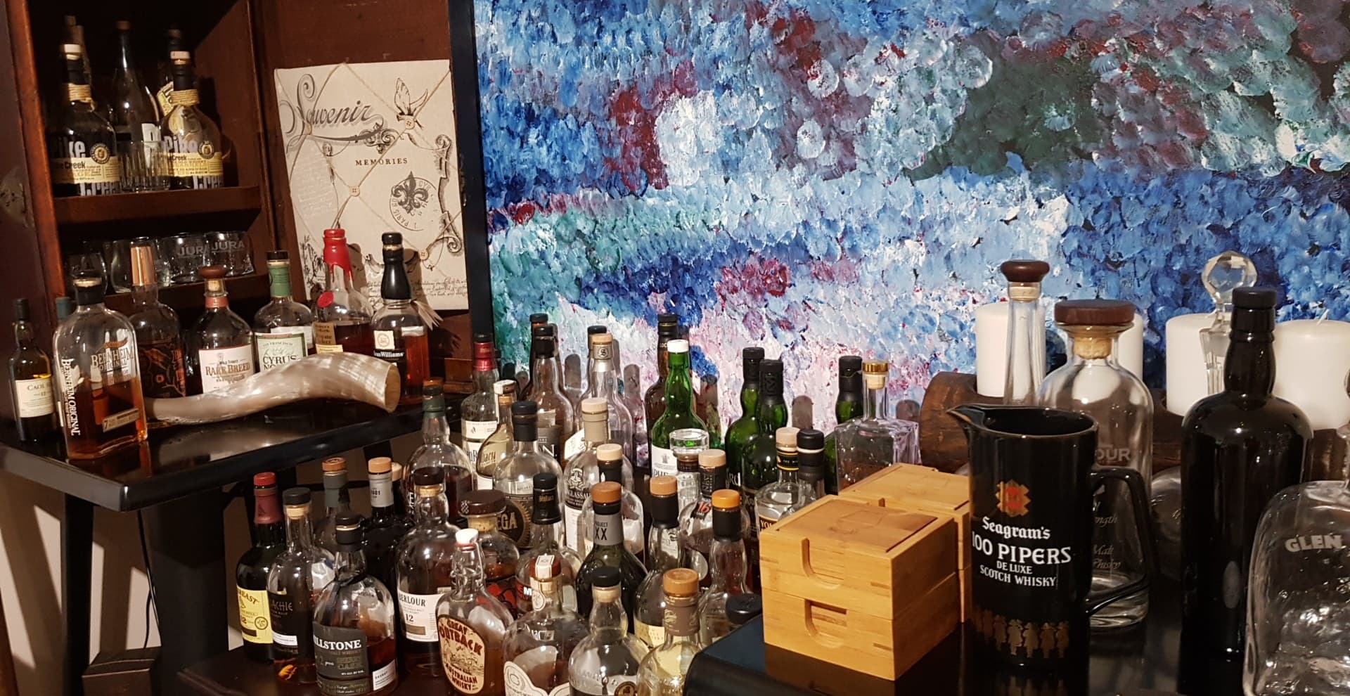 Whiskies in the Home Whisky Room.jpg