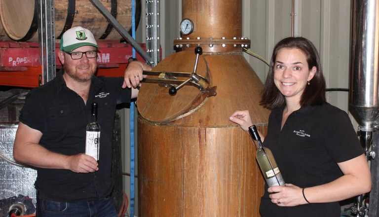 Nathan and Helen Williams from Baker Williams Distillery