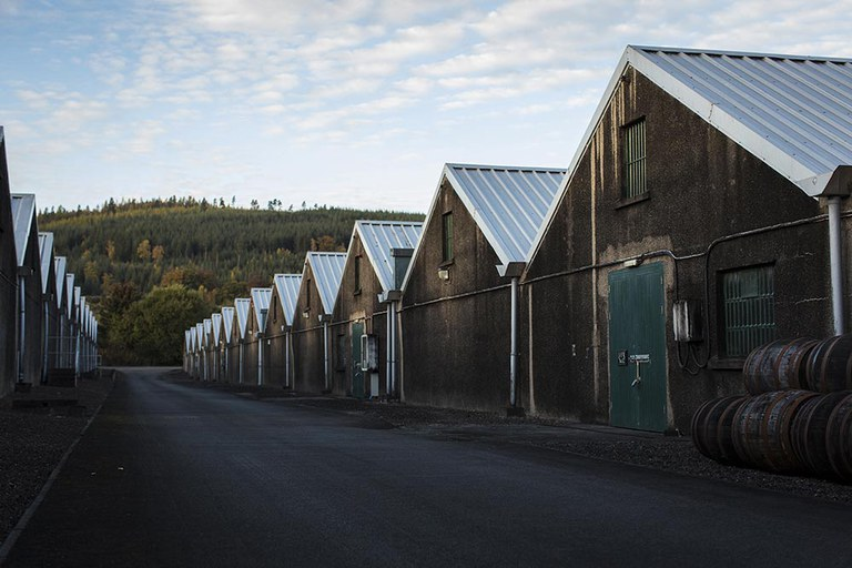 Glen Grant's traditional dunnage warehouses