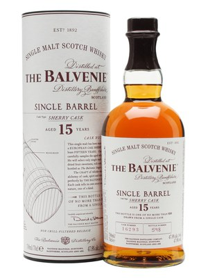 Balvenie 15 Year Old Single Barrel Sherry Single Malt Scotch Whisky