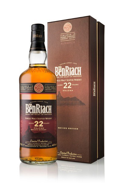 BenRiach 22 Year Old PX Cask Peated Single Malt Scotch Whisky