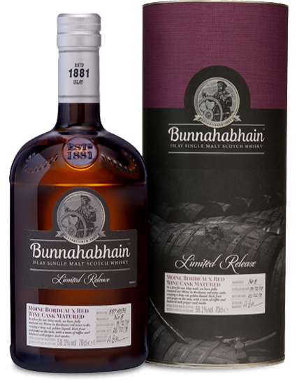 Bunnahabhain 2008 Moine Bordeaux Red Wine Cask Matured.png