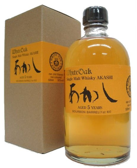 White Oak Akashi 5 Year Old Bourbon Barrel Single Malt Japanese Whisky