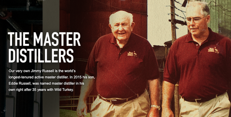 Wild Turkey master distillers
