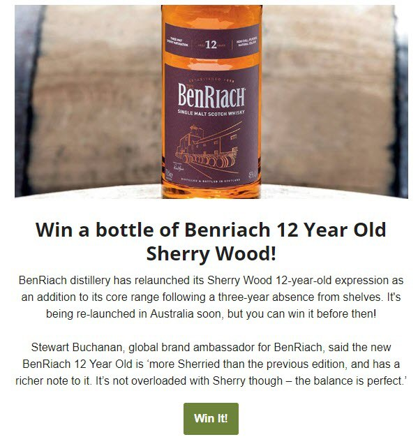 BF BenRiach Month Competition - EDM - 20181101