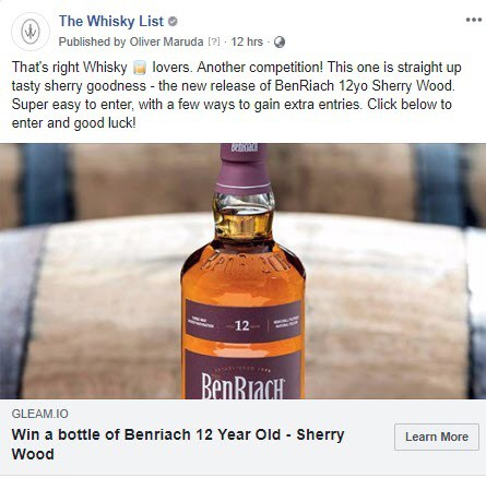 BF BenRiach Month Competition - FB - 20181102