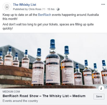 BF BenRiach Month Events - FB - 20181031