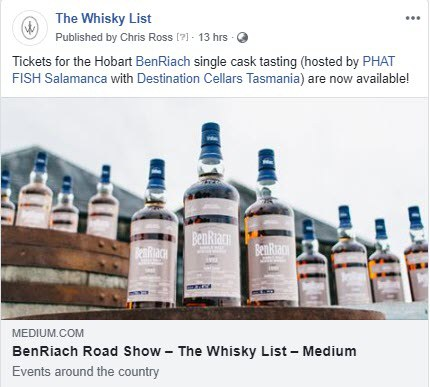 BF BenRiach Month Events Hobart - FB - 20181106
