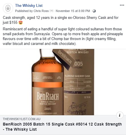 BF BenRiach Month Single Cask 5014 - FB - 20181115