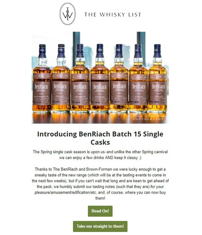 BF BenRiach Month Single Casks - EDM - 20181108