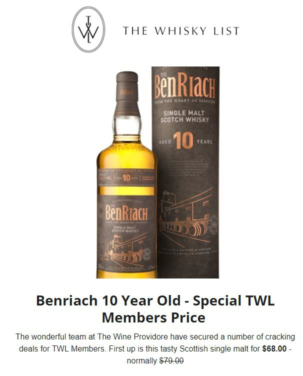 TWP BenRiach Deals - EDM - 20181103
