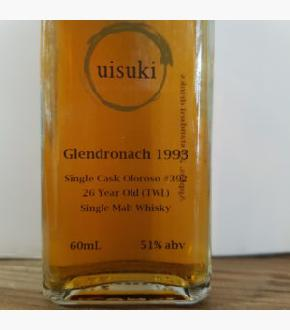 GlenDronach 1993 Single Cask #392 26 Year Old Australian Exclusive For The Whisky List Single Malt Scotch Whisky (60ml)