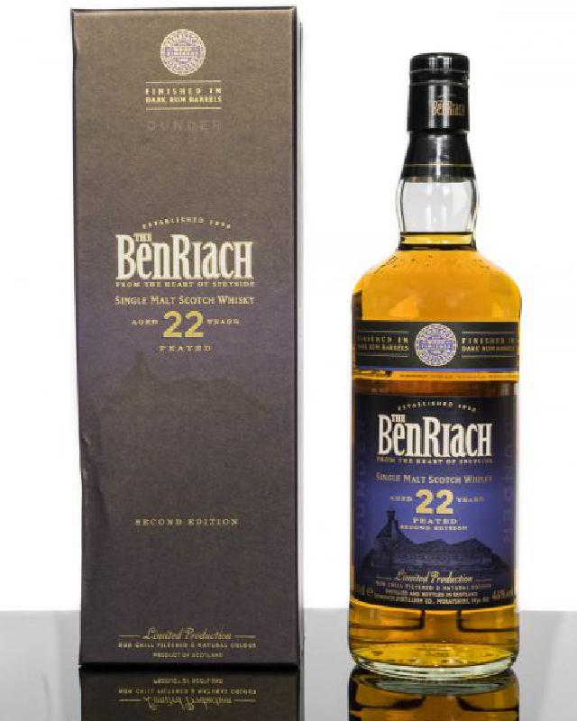 Benriach 22 Year Old Dunder Dark Rum Wood Finish Peated Single Malt Scotch Whisky