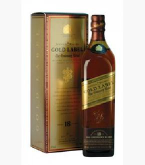 Johnnie Walker Gold Label 18 Year Old Old Label Blended Scotch Whisky