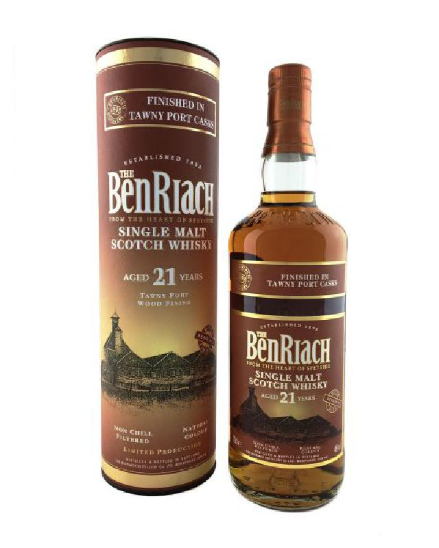 BenRiach 21 Year Old Tawny Port Cask Finish Single Malt Scotch Whisky