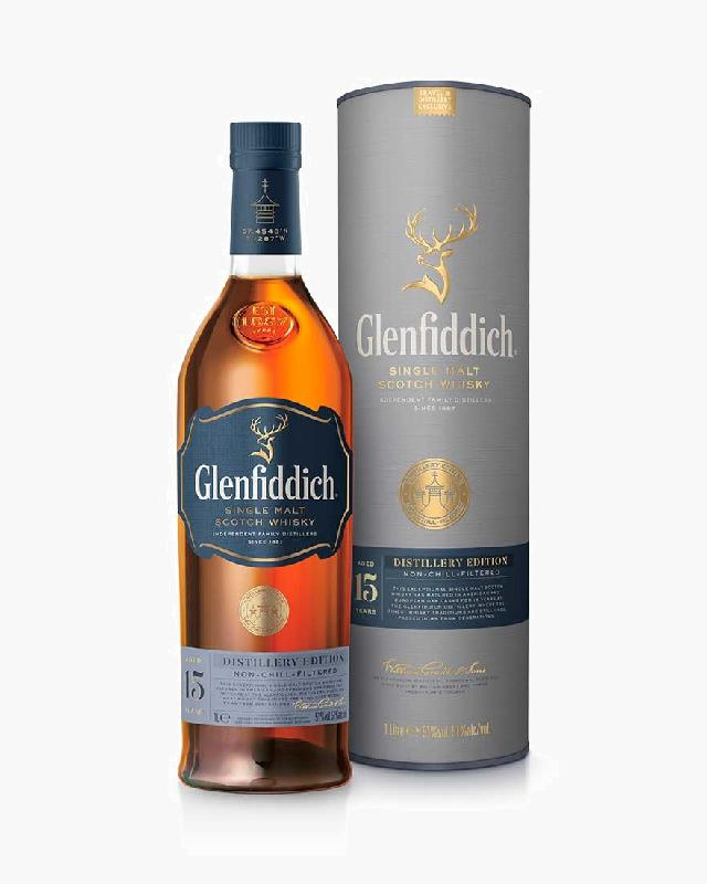 Glenfiddich 15 Distillery Edition Single Malt Scotch Whisky (1000ml)