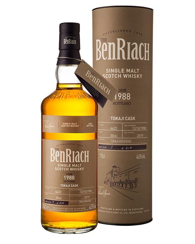 BenRiach 1988 Single Cask #4422 30 Year Old Tokaji Cask Single Malt Scotch Whisky