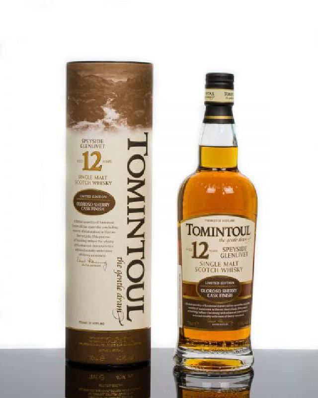 Tomintoul 12 Year Old Oloroso Sherry Cask Finish Single Malt Scotch Whisky