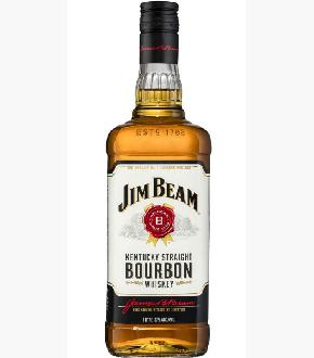 Jim Beam White Label Bourbon Whiskey (1000ml)