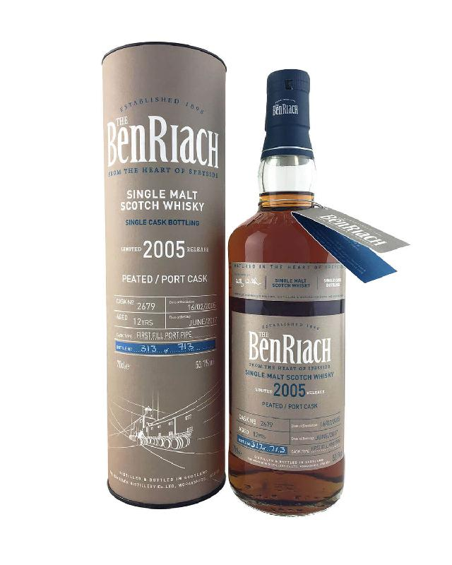 Benriach 2005 Single Cask #2679 Peated/Port Cask 12