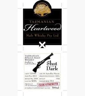 Heartwood Shot In The Dark Single Cask #LD961 Australian Single Malt Whisky