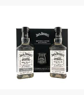 Jack Daniel's Before and After Charcoal Mellowing Set (2 x 375ml)