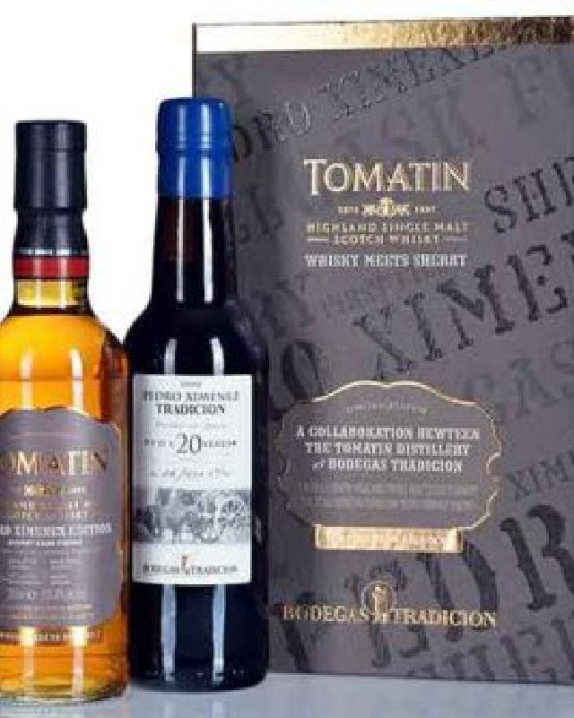 Tomatin 13 Year Old Cask Strength Whisky Meets Sherry Gift Set Single Malt Scotch Whisky