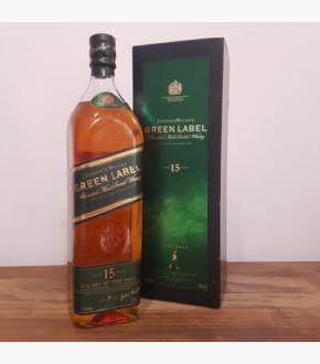 Johnnie Walker Green Label 15 Old Bottling Blended Malt Scotch Whisky (1000ml)