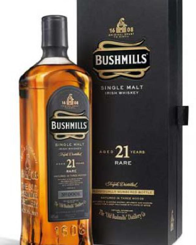 Bushmills 21 Year Old Irish Single Malt Whiskey