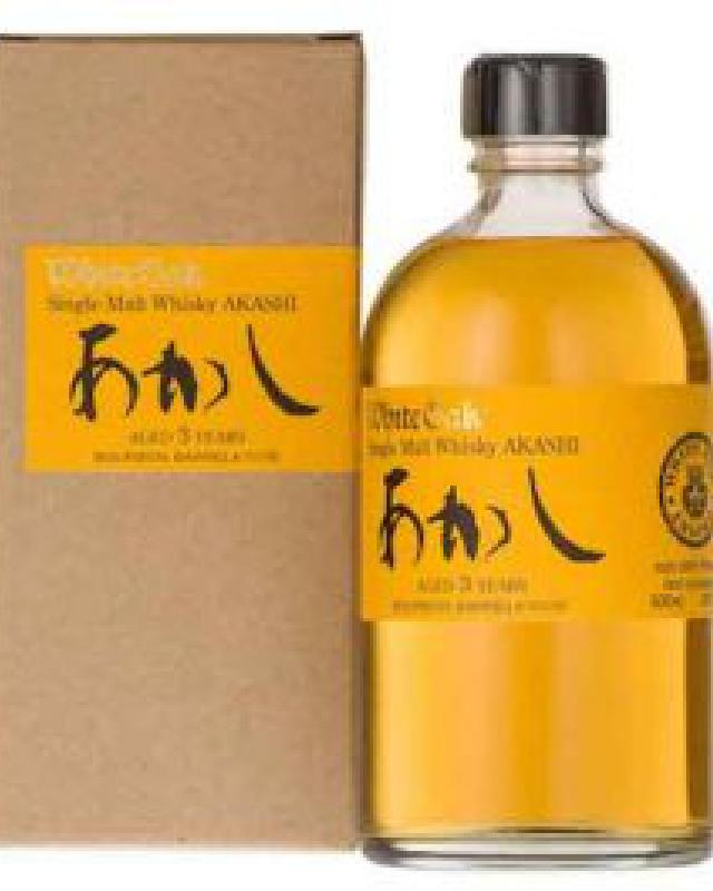 White Oak Akashi Single Cask Bourbon Barrel 3 Year Old Japanese Single Malt Whisky